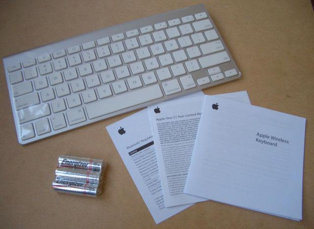 Apple wireless keyboard (aluminum)
