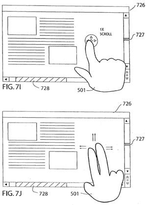 Media touch patent: multi-touch scrolling
