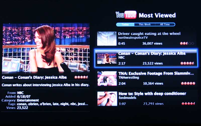 Apple TV: YouTube