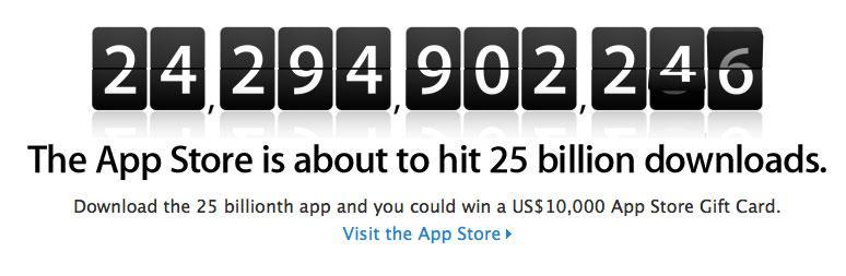 25 billion apps.