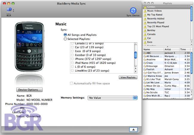 BlackBerry Media Sync for Mac