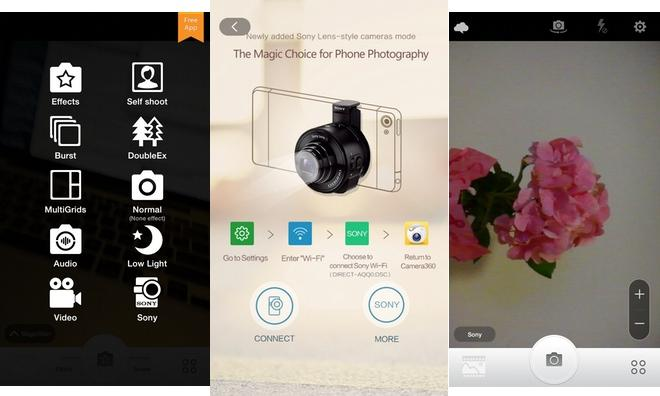 Camera360 iPhone app update adds control for Sony's QX wireless lenses