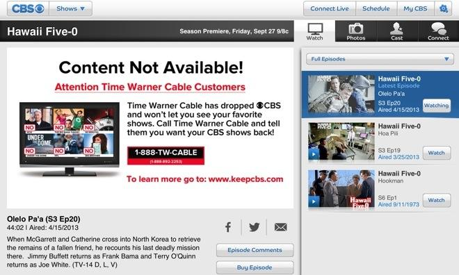 Twctime Warner Cable 888 Twcable: CBS spat with Time Warner Cable extends outage to network7s official rh:appleinsider.com,Design