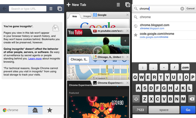 Chrome for iOS update adds support for opening links in other Google