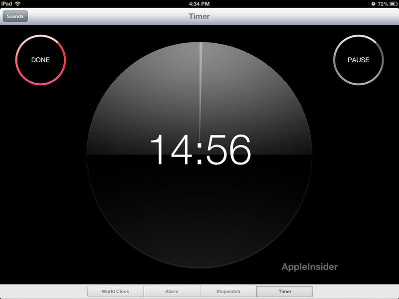 First look: Apple's Clock app comes to iPad with iOS 6