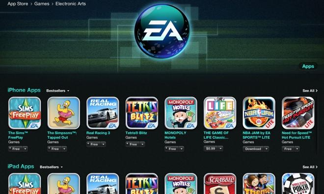 EA making more money through Apple's iOS App Store than its