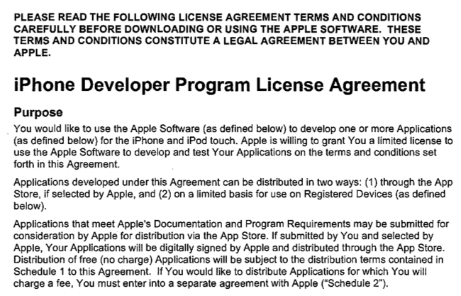 Digital Rights Group Blasts Apple Over Iphone Developer Agreement