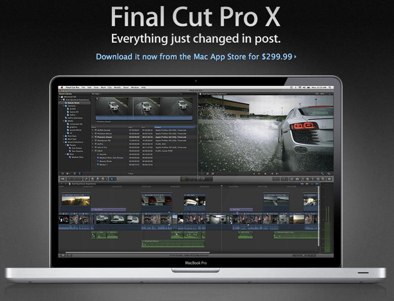 With release of Final Cut Pro X, Apple discontinues Express