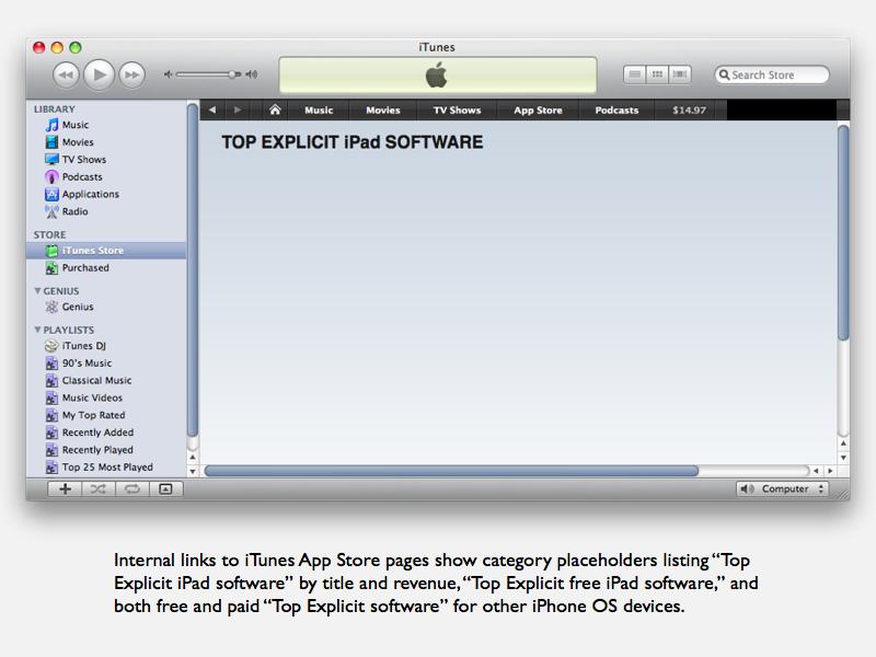 iPad explicit content placeholder