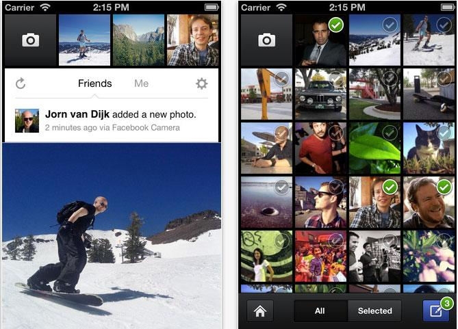 Facebook launches Instagram-style camera app for iPhone