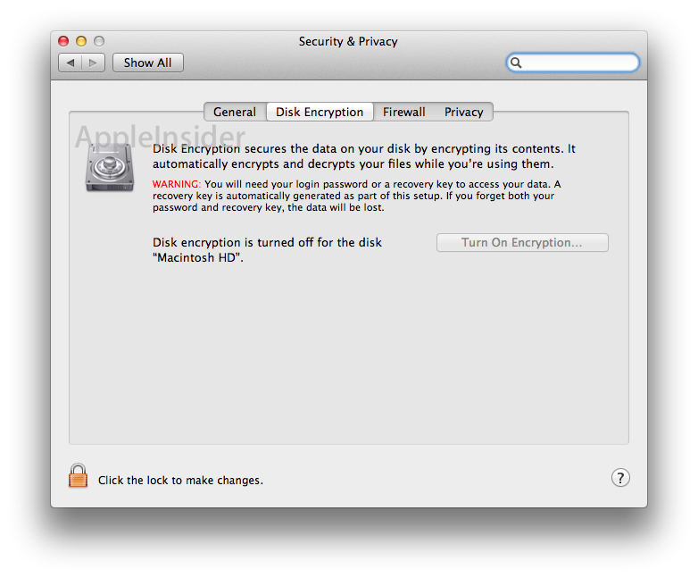 Inside Mac OS X 10 7 Lion: File Vault full disk encryption