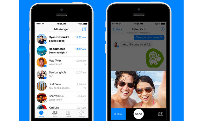 facebook mobile with chat