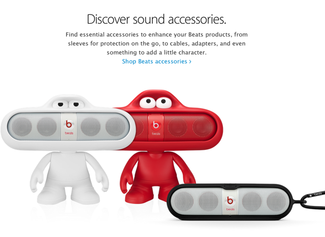 Beats by Dr  Dre gets its own section on Apple's online store