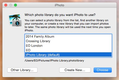 copy entire iphoto library to another mac