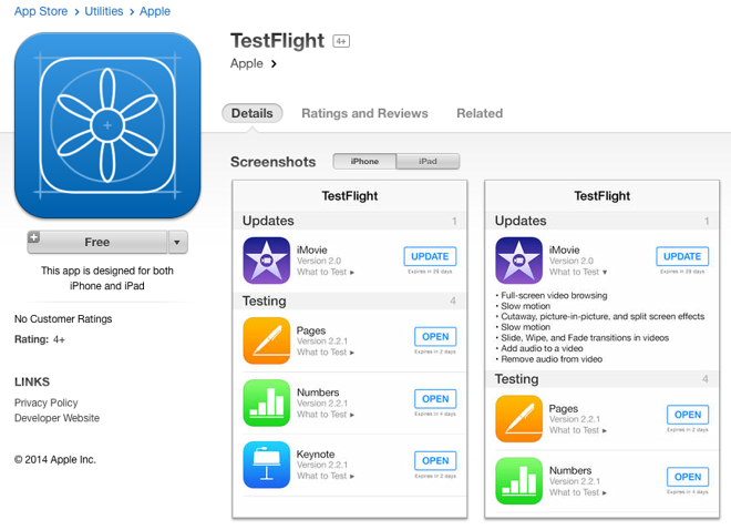 Apple rolls out TestFlight beta testing app, reportedly
