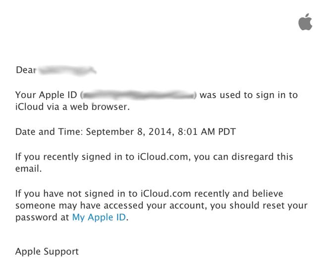 log into my apple account