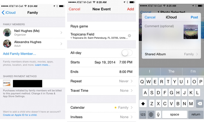 How to start an iOS 8 Family Sharing account to share apps