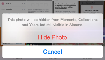 iOS 8 lets you easily hide photos and App Store purchases