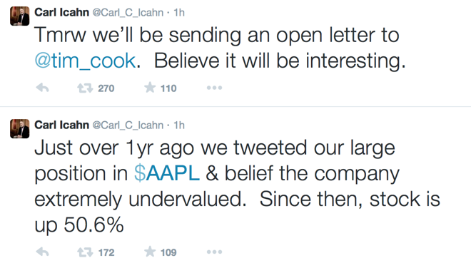 Carl Icahn teases interesting open letter to Apple CEO Tim Cook