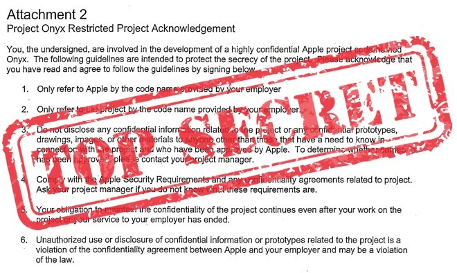 Inside Apple S Secret Confidentiality Agreements Code Names