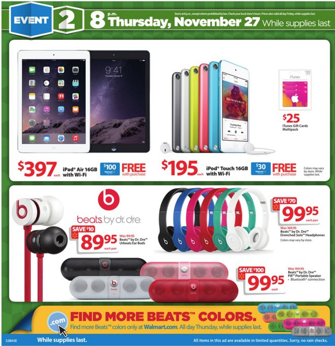 Walmart's Black Friday deals bundle $30 gift card with $200
