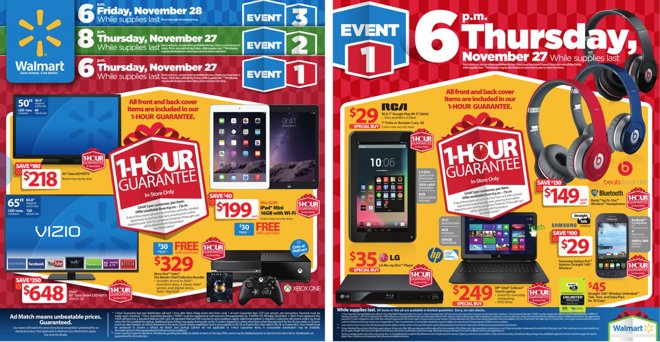 a81e8a923b4 Walmart has divided its Black Friday sales into three different timed