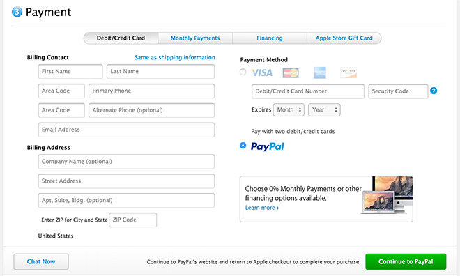 Stores That Accept Paypal Credit Online >> Online Apple Store Now Accepts Paypal Payments In Us And Uk