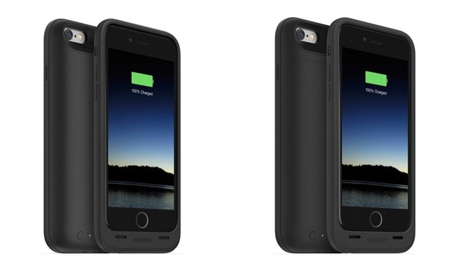 47fef4cba846e2 Mophie's Juice Pack Air (left) and Juice Pack Plus (right) for iPhone 6.