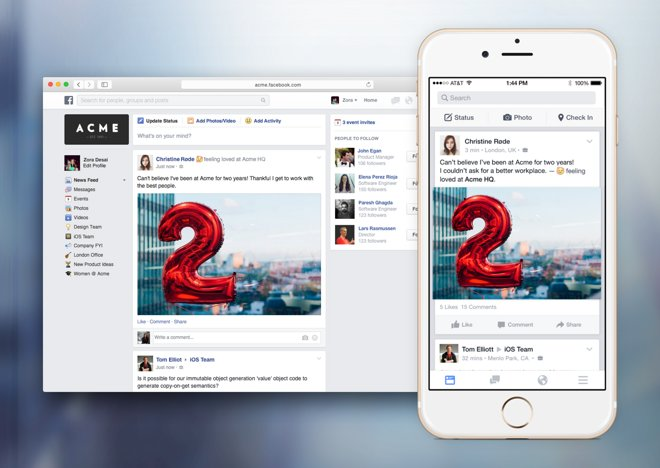 Facebook at Work soft launches on App Store, Skype for