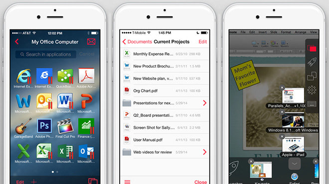 Parallels Access for iOS updated with new file manager