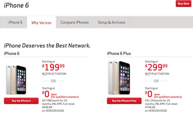 Verizon cuts $10 off many monthly shared data plans