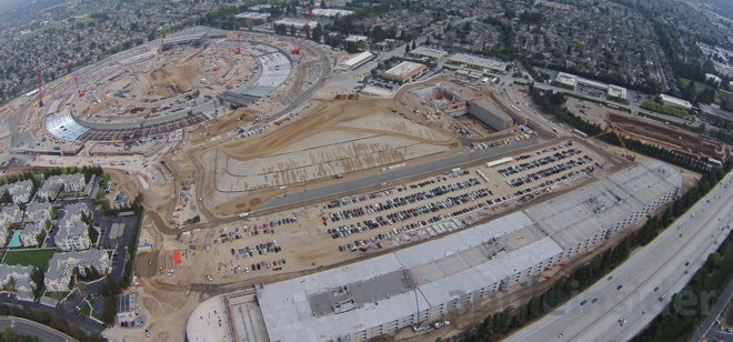 Exclusive March aerial tour of Apple Inc's Campus 2 shows