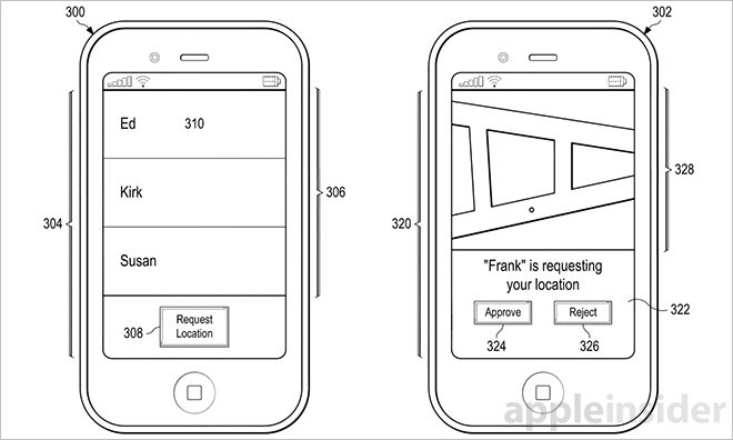 Apple location sharing patent could bring path tracking to