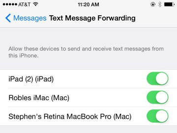 How to enable SMS text messaging through Continuity on iPad