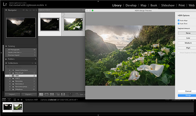 First look: Adobe Lightroom CC with HDR and panoramic photo