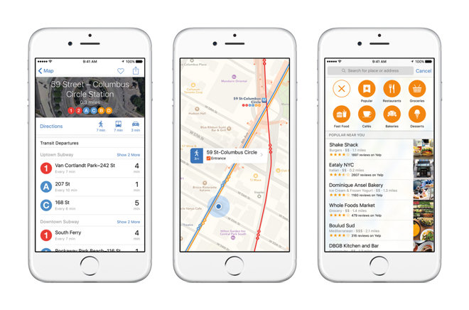 Apple unveils iOS 9 with smarter Siri, public transit in Maps ... on map apps for kindle fire, map apps apple, minecraft pe app for iphone, map iphone 5 sales, map apps for windows, search for iphone, gps maps on iphone, map apps for mac, loop map my run iphone, cloud storage for iphone, map apps for tablets, twitter for iphone, qr codes for iphone, map apps for ipad 2, map on iphone 4, navionics lake maps for iphone, tiny wings app for iphone, google maps for iphone, itunes app for iphone,
