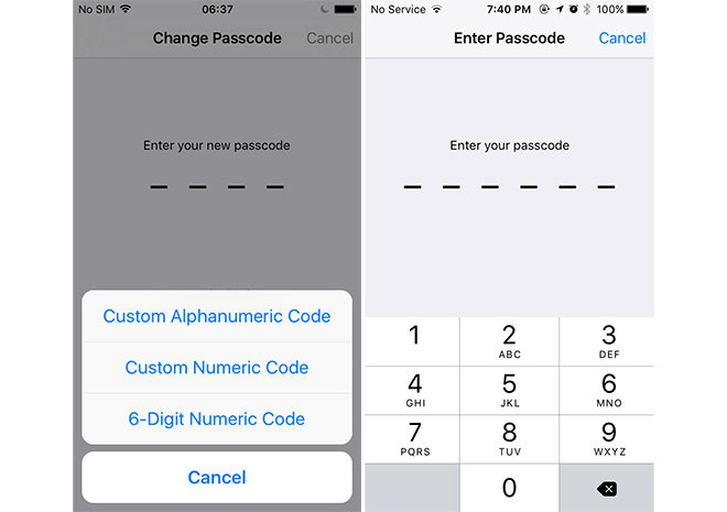 iOS 9 includes new iCloud Drive app, 6-digit passcode, shift