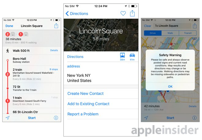 Inside iOS 9: Apple Maps gains transit directions for buses