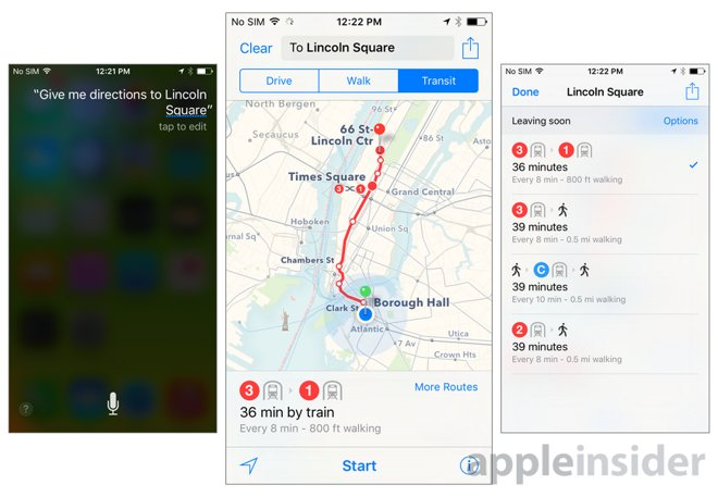 Inside iOS 9: Apple Maps gains transit directions for buses ... on give food, give service, give water,