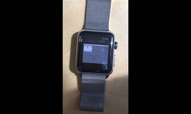 Video shows Apple Watch running Mac OS 7 5 5 via emulator