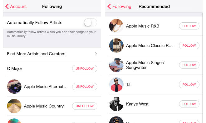 How to follow and get updates from your favorite artists in