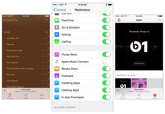 How to remove Connect from Apple Music in iOS 8 4