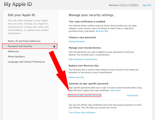 app specific password apple mail