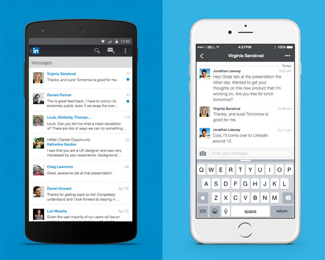 LinkedIn overhauls mobile & Web messaging functions