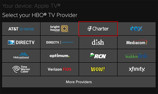 HBO GO activation page for Apple TV suggests support from