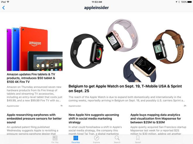 How to read AppleInsider in iOS 9's News application
