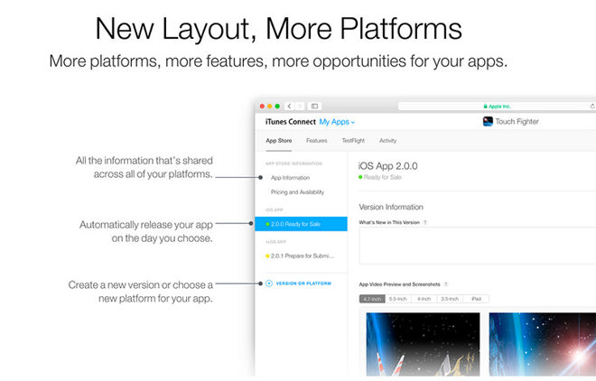 Apple redesigns iTunes Connect, updates Apple Store app for