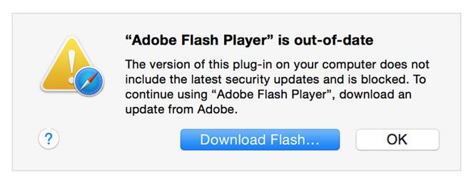 Apple blocks old, unsafe Adobe Flash plug-in versions in OS X Safari