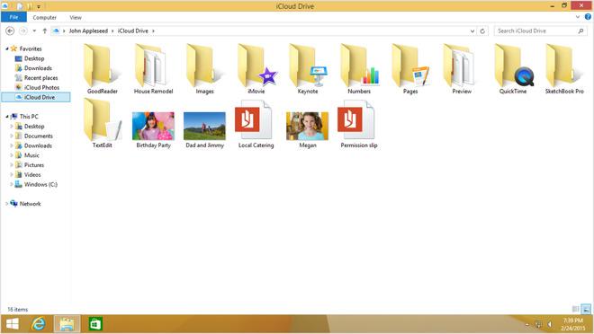 icloud drive download windows 10