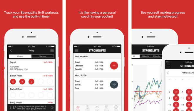 Image result for StrongLifts App